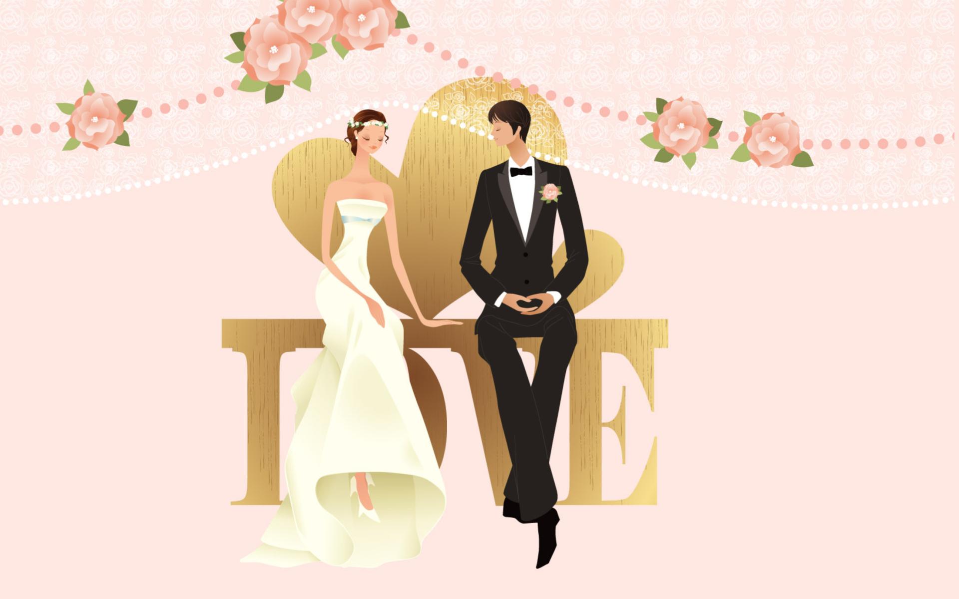 Свадебные открытки на стены