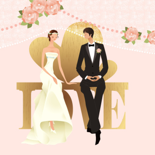 Romantic Couples Wedding Bride - Fondos de pantalla gratis para 1024x1024