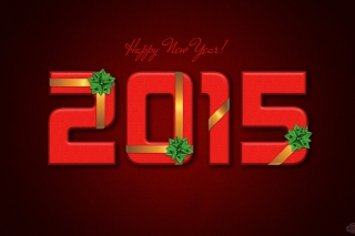 Free New Year 2015 Red Texture Picture for Android, iPhone and iPad