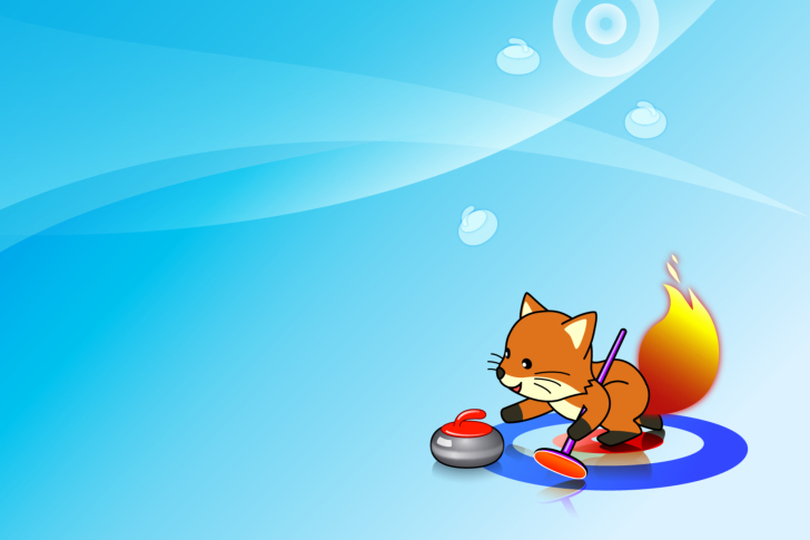 Das Firefox Curling Wallpaper