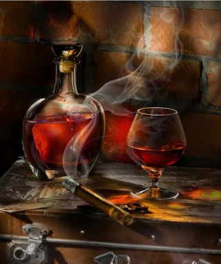 Free Whiskey and Cigar Picture for Nokia C1-01