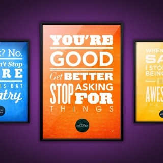 Motivational phrase You re good, Get better, Stop asking for Things - Obrázkek zdarma pro iPad 3