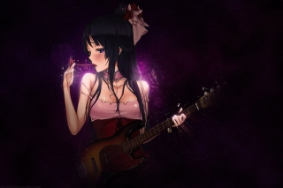 Anime Girl with Guitar papel de parede para celular para Android 480x800