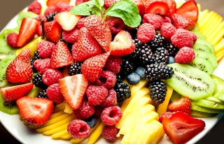 Fruit Plate Background for Android, iPhone and iPad