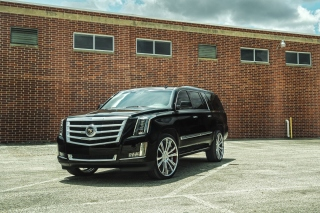 Cadillac Escalade Black Background for Android, iPhone and iPad