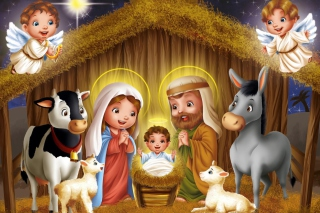 Free Birth Of Jesus Picture for Android, iPhone and iPad