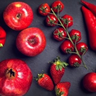 Red fruits and vegetables sfondi gratuiti per iPad mini