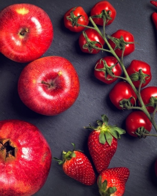 Kostenloses Red fruits and vegetables Wallpaper für 176x220