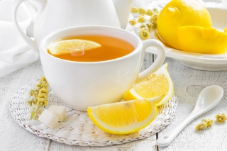 Tea with Citron Background for Android, iPhone and iPad