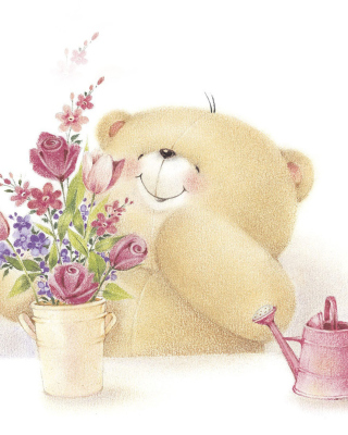 Forever Friends Teddy Bear Background for Nokia Asha 311