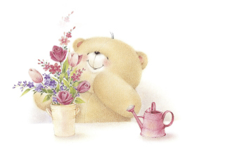 Forever Friends Teddy Bear Background for Android, iPhone and iPad