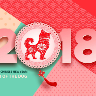 2018 New Year Chinese year of the Dog - Fondos de pantalla gratis para iPad 2
