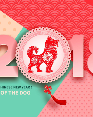 2018 New Year Chinese year of the Dog - Obrázkek zdarma pro iPhone 4S