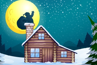 Free It's Santa's Night Picture for 1400x1050