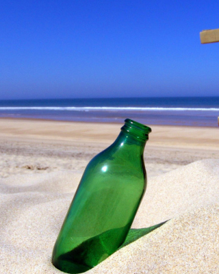 Bottle Beach Wallpaper for iPhone 6 Plus