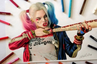 Margot Robbie in Suicide Squad Background for Android, iPhone and iPad