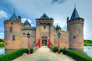 Muiderslot Castle in Netherlands sfondi gratuiti per cellulari Android, iPhone, iPad e desktop