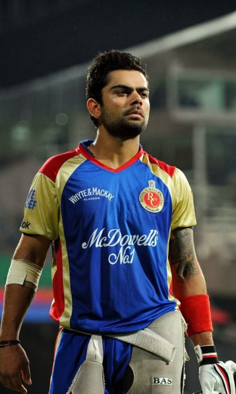 Screenshot №1 pro téma Virat Kohli in India Cricket HD 480x800