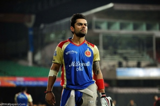 Virat Kohli in India Cricket HD Background for 1280x800