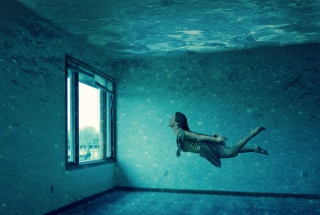 Underwater Room Wallpaper for Android, iPhone and iPad