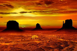 Monument Valley Navajo Tribal Park in Arizona Wallpaper for Desktop 1280x720 HDTV