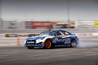 Hyundai Genesis Coupe Race Cars Background for Android, iPhone and iPad