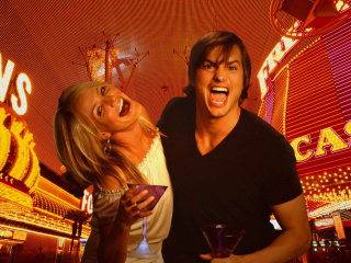 Screenshot №1 pro téma Cameron Diaz And Ashton Kutcher in What Happens in Vegas 320x240