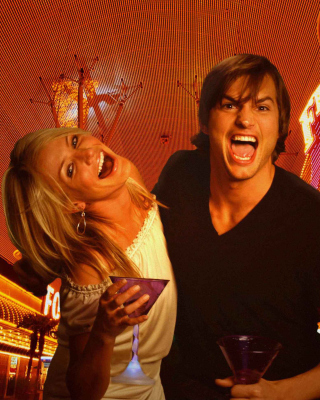 Cameron Diaz And Ashton Kutcher in What Happens in Vegas Background for iPhone 6 Plus