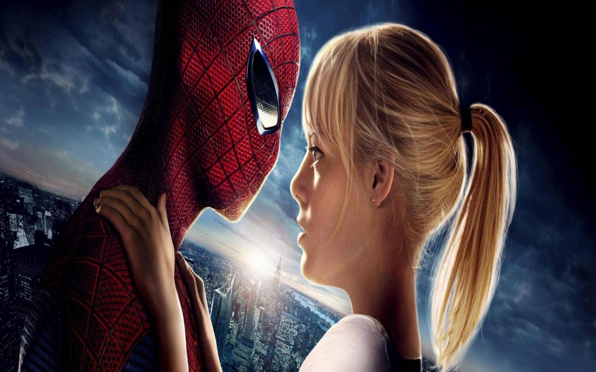 Обои Новый человек-паук, эмма стоун, Emma stone, the amazing spider-man. Фильмы foto 13