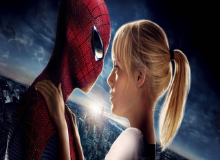 Free Amazing Spider Man And Emma Stone Picture for Android, iPhone and iPad