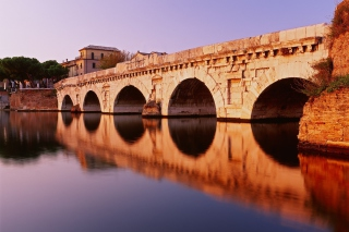 Tiberius Bridge, Rimini Background for Android, iPhone and iPad