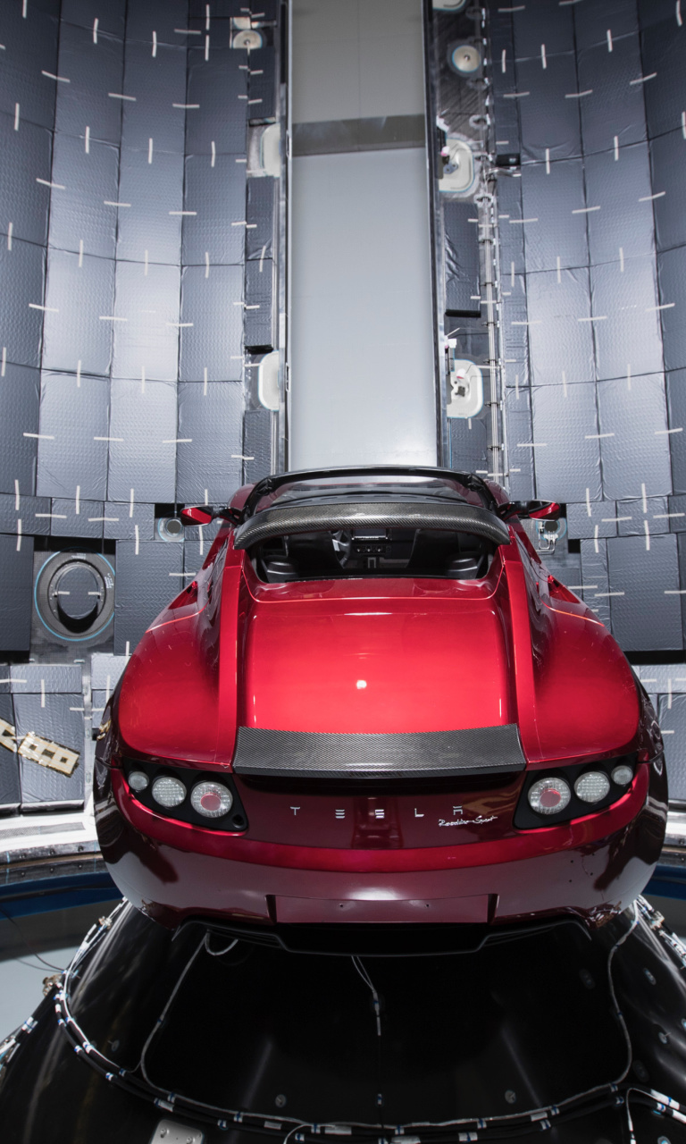 Sfondi SpaceX Starman Tesla Roadster 768x1280