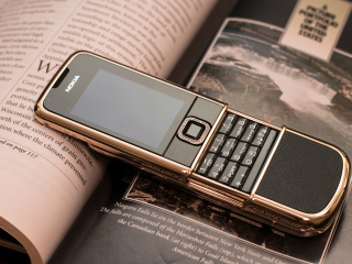 Das Nokia 8800 Gold Arte Rose Wallpaper 320x240