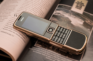 Nokia 8800 Gold Arte Rose Picture for Nokia XL