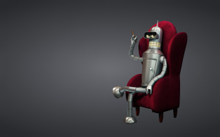 Free 3D Bender Futurama Picture for 220x176