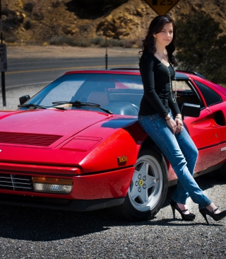 Ferrari Girl sfondi gratuiti per iPhone 6