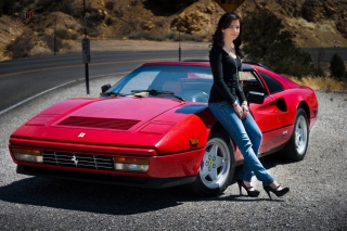 Free Ferrari Girl Picture for Android, iPhone and iPad