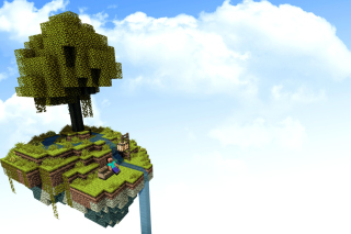 Minecraft Island Texture Wallpaper for Android, iPhone and iPad