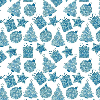 Christmas Blue Texture Wallpaper for iPad 2