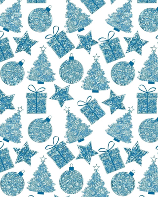 Christmas Blue Texture Background for Nokia C1-01