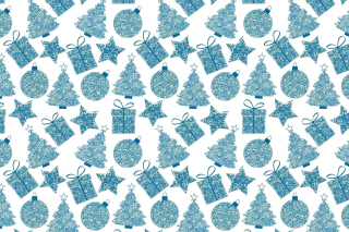 Christmas Blue Texture Wallpaper for Android, iPhone and iPad