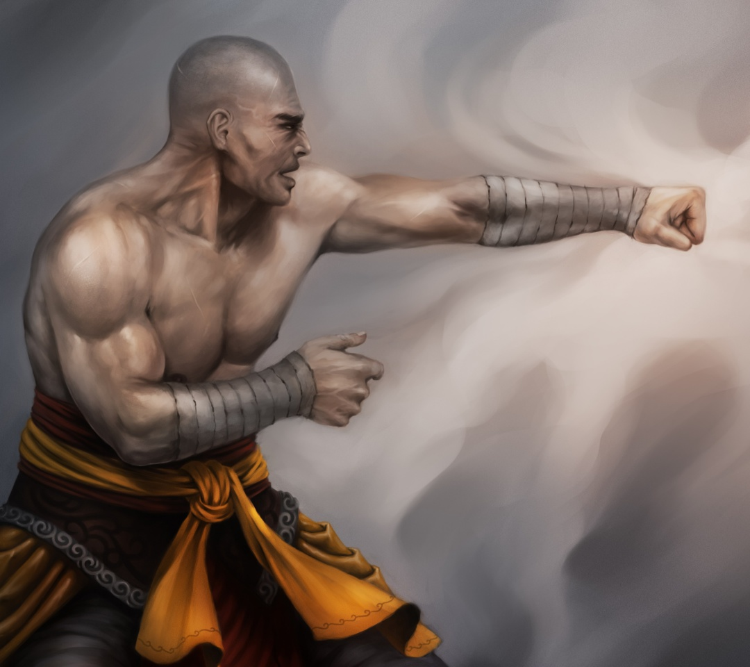 Warrior Monk by Lucas Torquato de Resende wallpaper 1080x960