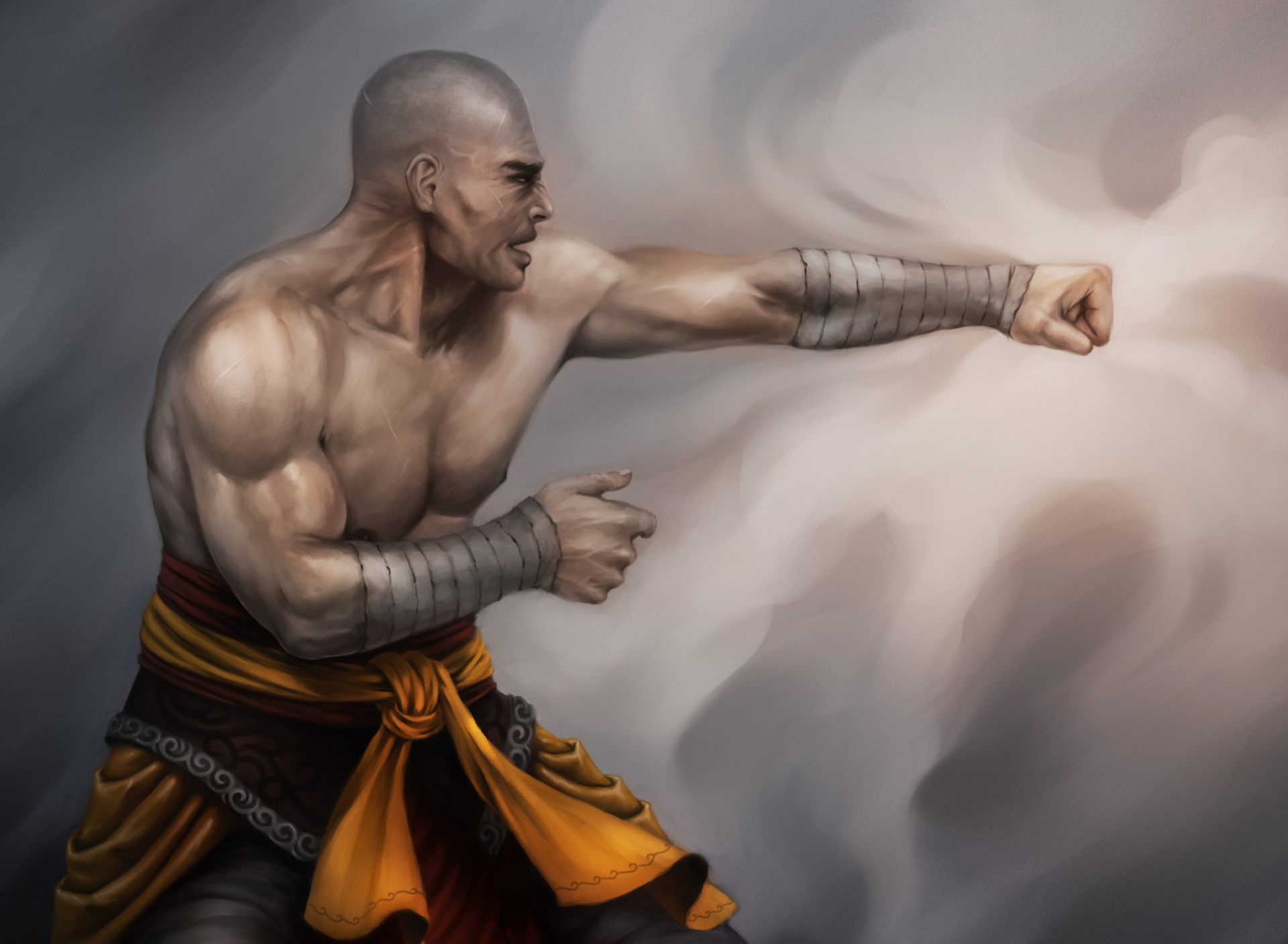 Screenshot №1 pro téma Warrior Monk by Lucas Torquato de Resende 1920x1408