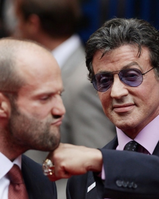Free Jason Statham and Sylvester Stallone Picture for Nokia Asha 306
