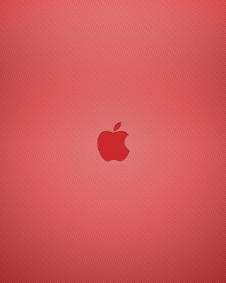 Red Apple Mac Logo Wallpaper for 240x320