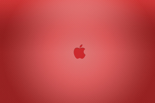 Red Apple Mac Logo Wallpaper for Android, iPhone and iPad