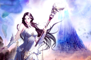 Angelina, League of Angels Wallpaper for Android, iPhone and iPad
