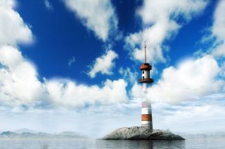 Lighthouse on West Coast Background for Android, iPhone and iPad