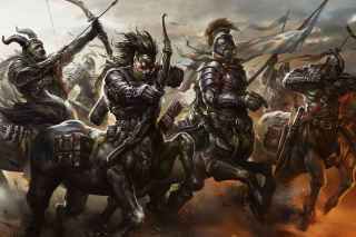 Centaur Warriors from Mythology Wallpaper for Android, iPhone and iPad