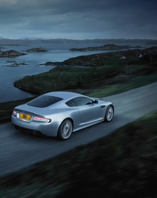 Aston Martin Dbs Evening Ride Background for 240x320